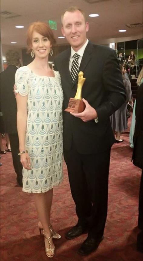 writer director Adam White with his wife Greta